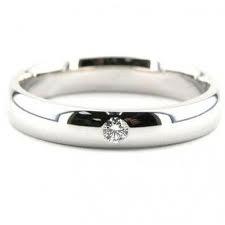 Alianzas de boda con un diamante en oro blanco. Alianzas de boda