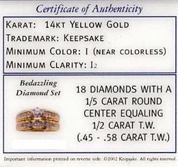 Certificado Calidad Diamante