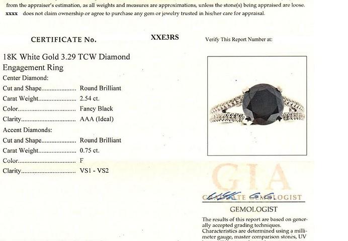 Certificado Falso de Diamante
