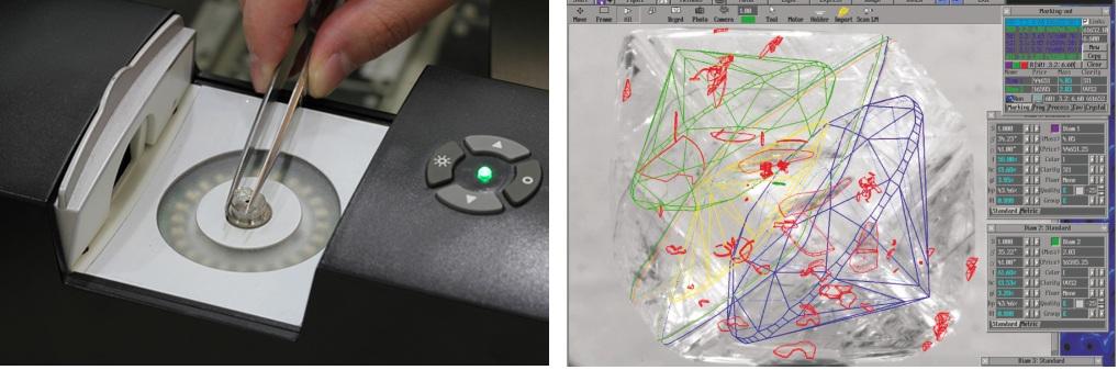 Tecnología en los diamantes gema