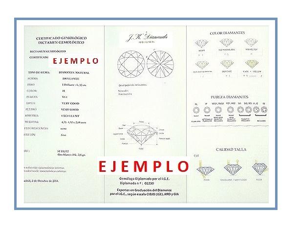 certificado gemológico de los diamantes