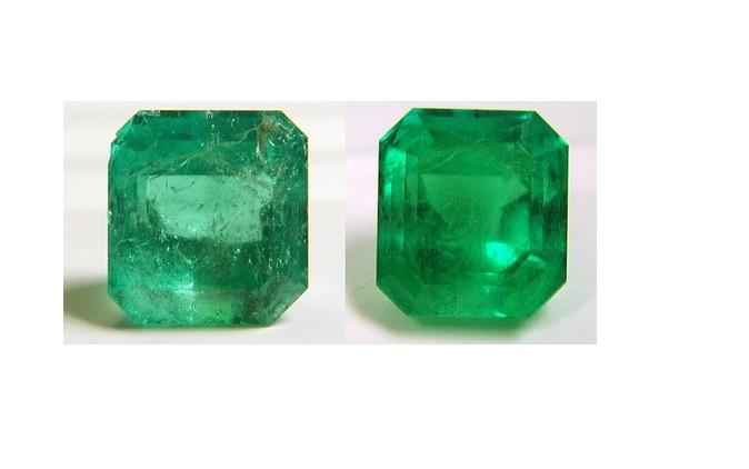 esmeraldas tratadas con aceite de cedro
