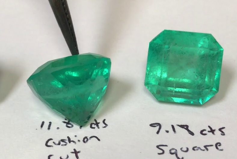 esmeraldas de mala calidad