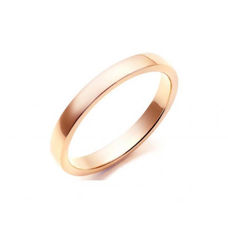 Alianza de Matrimonio Plana Oro Rosa 2 mm C1
