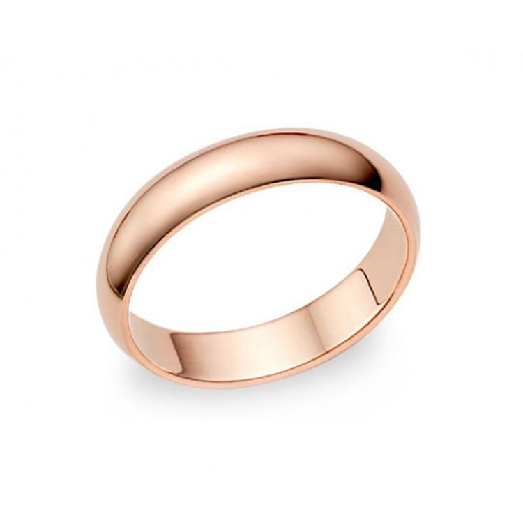 Alianza Oro Rosa 3,5 mm media caña B4