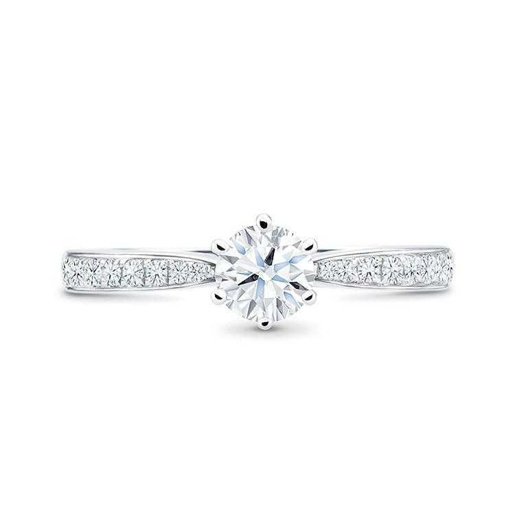 "Anillo oro con diamantes de precioso diseño Clásico ""FlorenciaLuxury"""