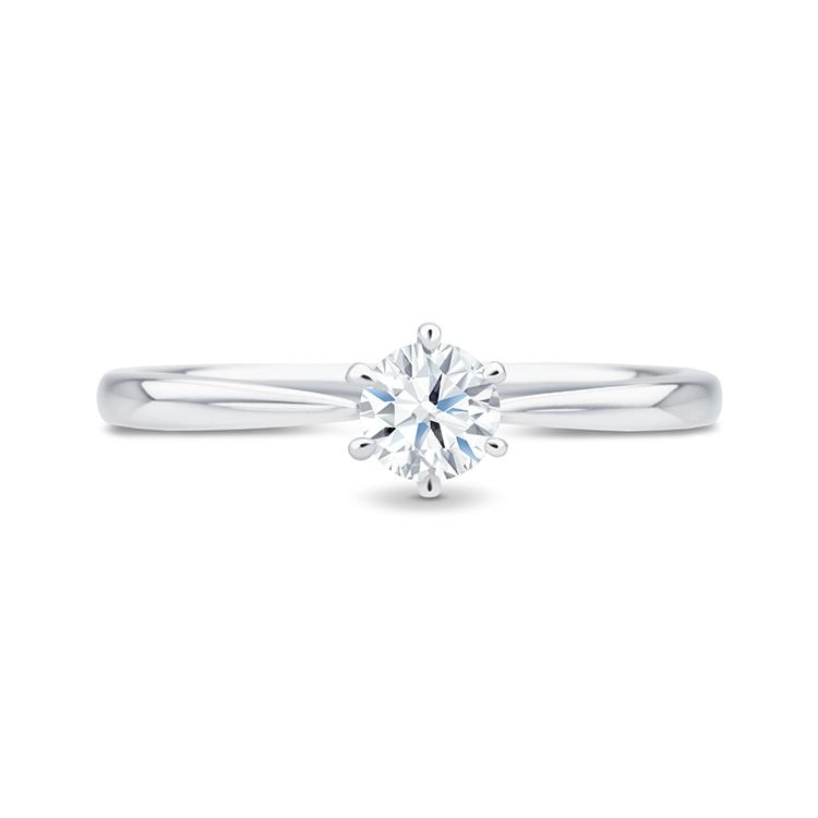 """Anillo """"Florencia"""" de oro blanco 18k y diamante"""