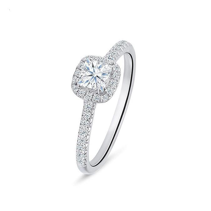 """Anillo """"Kyotolux"""" desde 0.30 cts en oro blanco con Diamantes"""