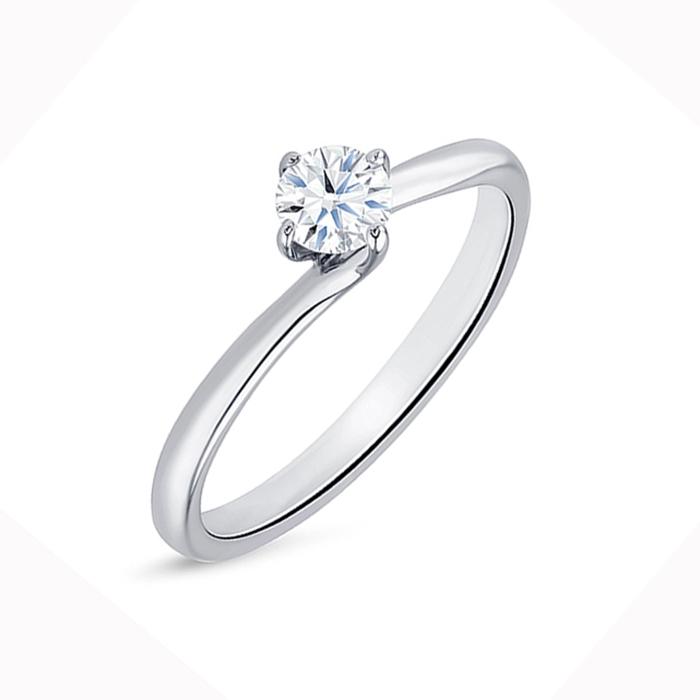 """Anillo Solitario """"Arba S"""" Oro 18k y Diamante 0.10 cts"""