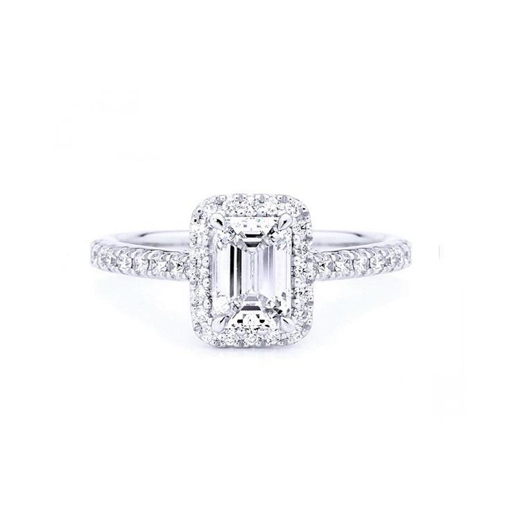 Anillo Diamante talla Esmeralda - SCE 22
