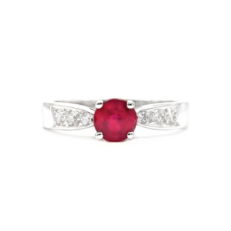 Anillo Rubí y diamantes RED HIGASHI - SK 4 R