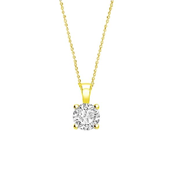 """Colgante """"Gold Midori"""" con Diamante en garras en Oro 18K - CR 1 OA"""