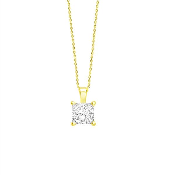Collar oro amarillo talla Princesa de Diamante - CR 15 OA
