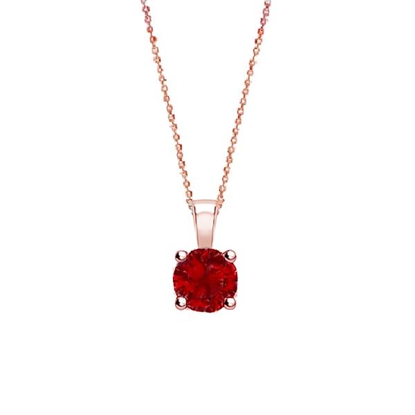 "Collar Rubí redondo ""Red Midori"" oro rosa - CR 1 RUBI"
