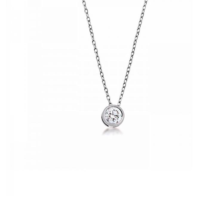 Colgante Oro blanco Diamante - CBR 2