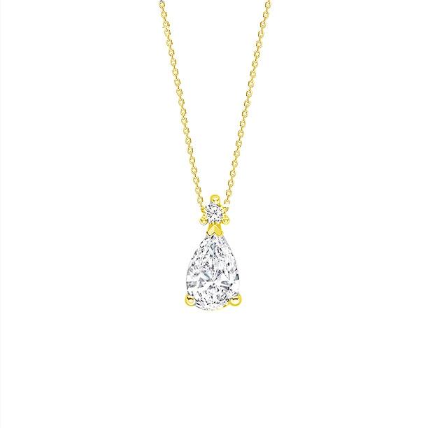 """Colgante """"Drop"""" Oro amarillo talla perilla  - CR 9 OA"""