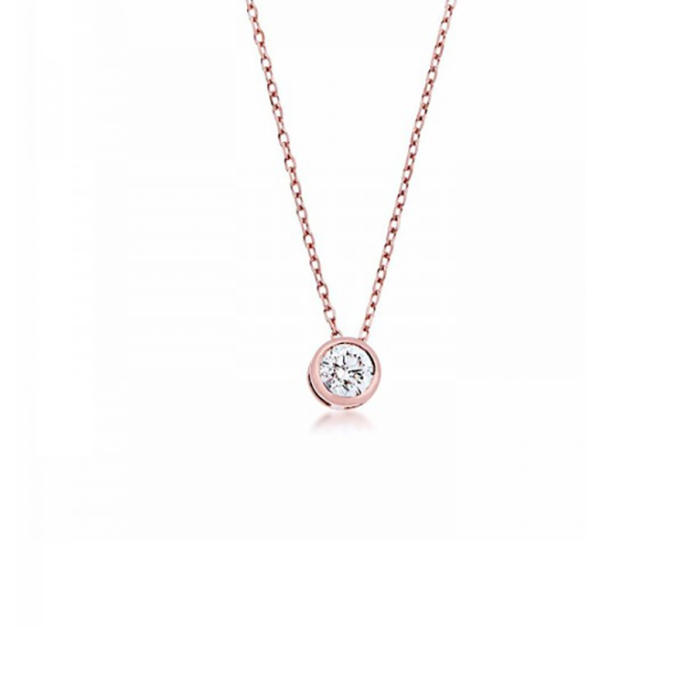 Colgante Oro rosa Diamante - CRR 2