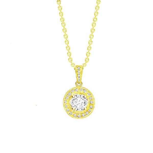 """Collar Oro Amarillo 18K y Diamantes """"Suntory"""""""