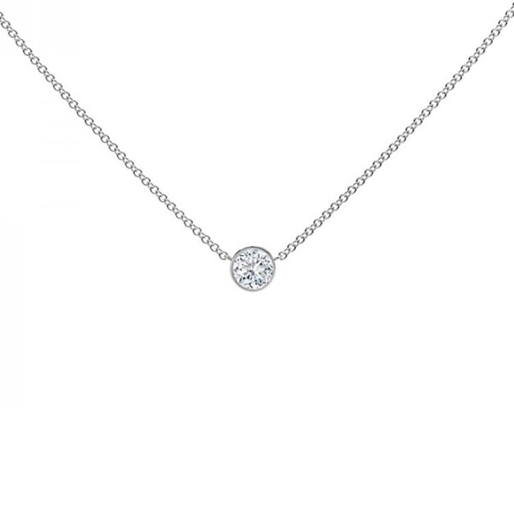 Collar Diamante Oro blanco - CBR 3