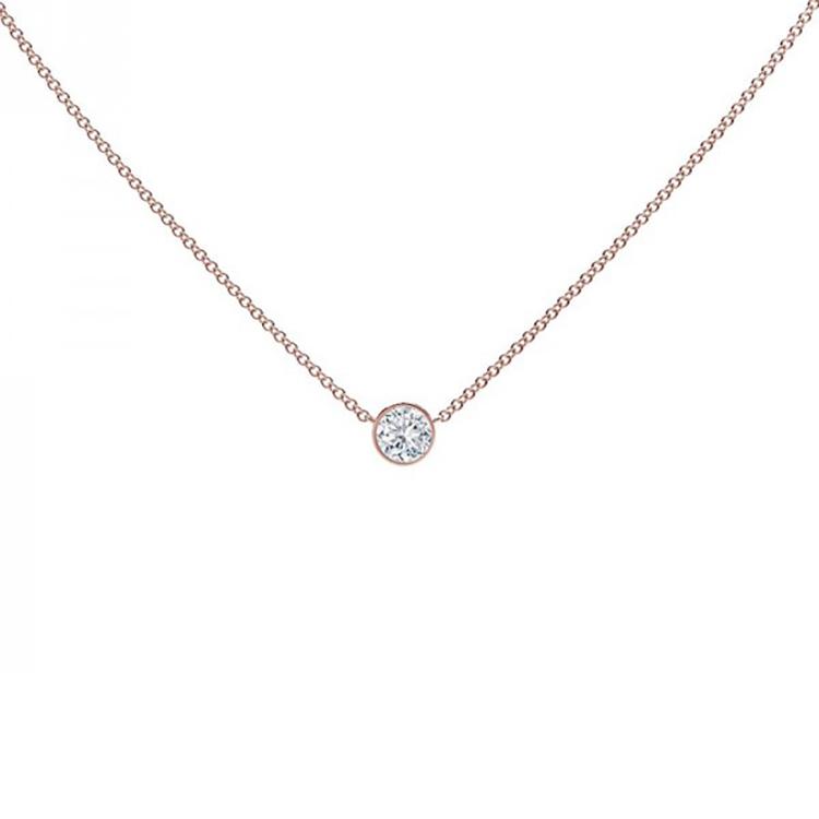 Collar Diamante Oro rosa - CRR 3