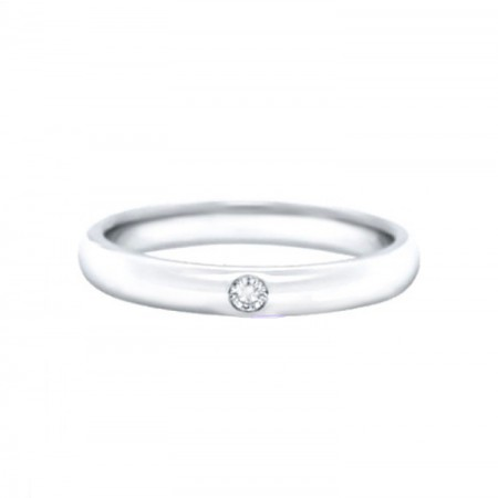 alianzas de boda con un diamante