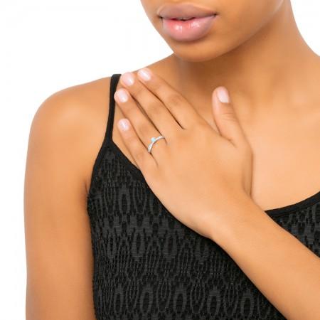 anillo de oro blanco diamante mano - NASHIRA SR 63 4