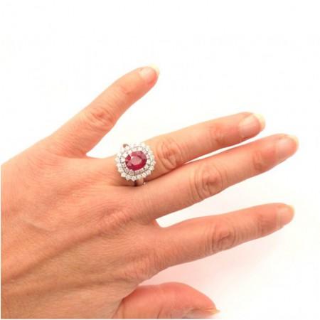 anillos de rubi pedida de mano