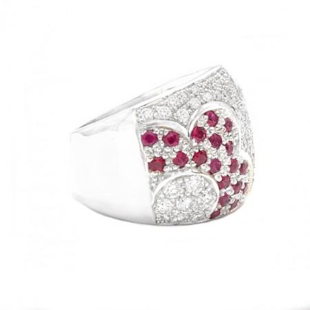 anillos de diamantes con rubies