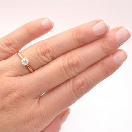 anillo mano oro rosa venecia
