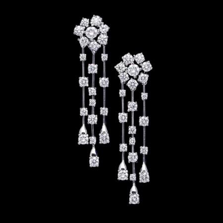 pendientes largos diamantes
