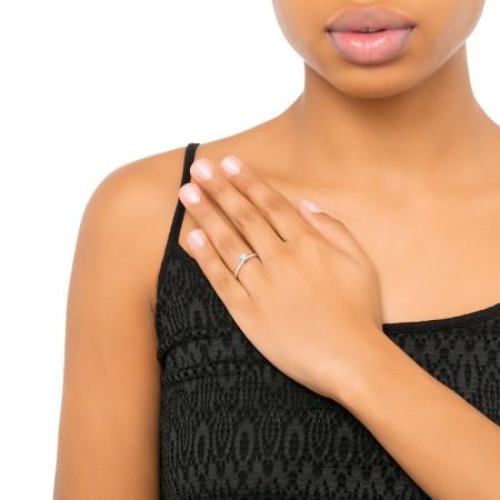 anillo pedida solitario oro mano HAIFA SR 26