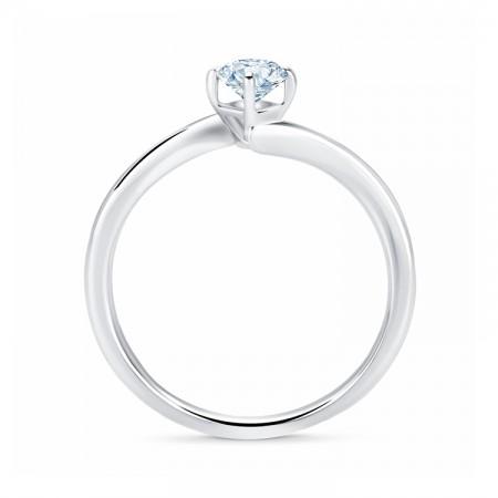 Solitario Oro Blanco Diamante - LESATH SR59 3