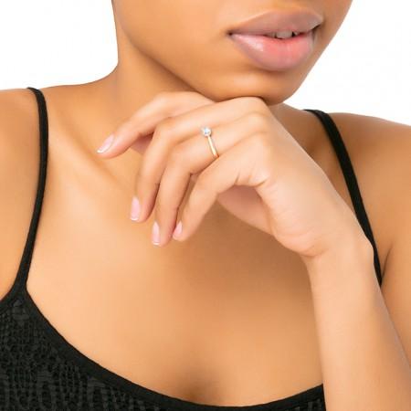 anillo oro rosa solitario harmony modelo