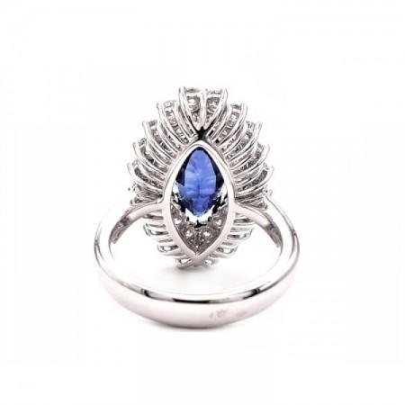 anillo zafiro marquise y brillantes 3