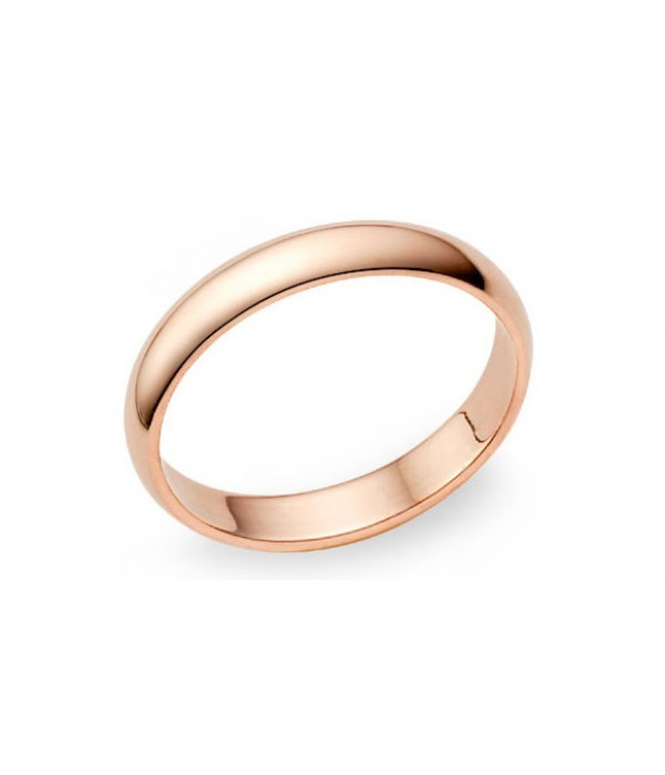 Alianza Boda Oro Rosa - 3 mm media caña B3