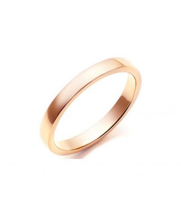 Alianza Matrimonio Plana Oro Rosa - 2 mm C1