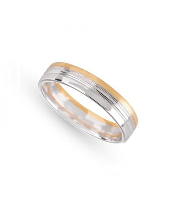 Alianza Matrimonio Bicolor Oro blanco/Amarillo - ALR 8/ BBA