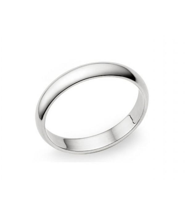 Alianza Clásica Oro Blanco - 3 mm media caña