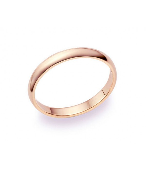 Alianza Clásica Oro Rosa - 2,5 mm media caña
