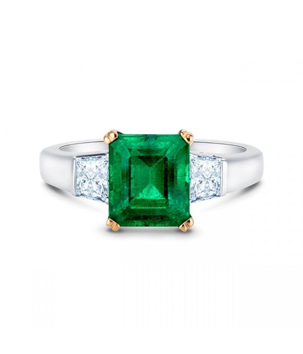 Anillo Esmeralda con diamantes Taypers - SCE 23