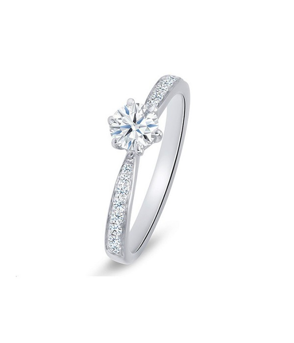 "Anillo ""FlorenciaStyle"" Oro blanco 18k y diamantes"