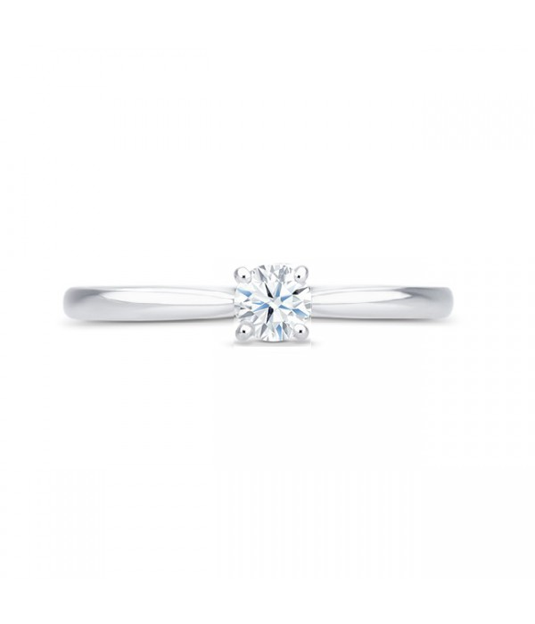 """Anillo Pedida """"Harmony"""" Oro Blanco y Diamante 0.09 clásico y elegante"""