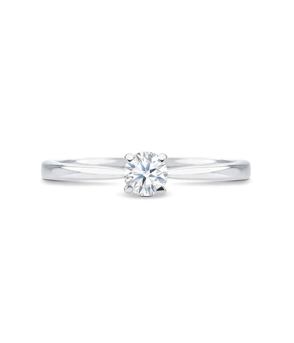 """Anillo Solitario """"PraiaStyle"""" oro blanco 18k y diamante"""