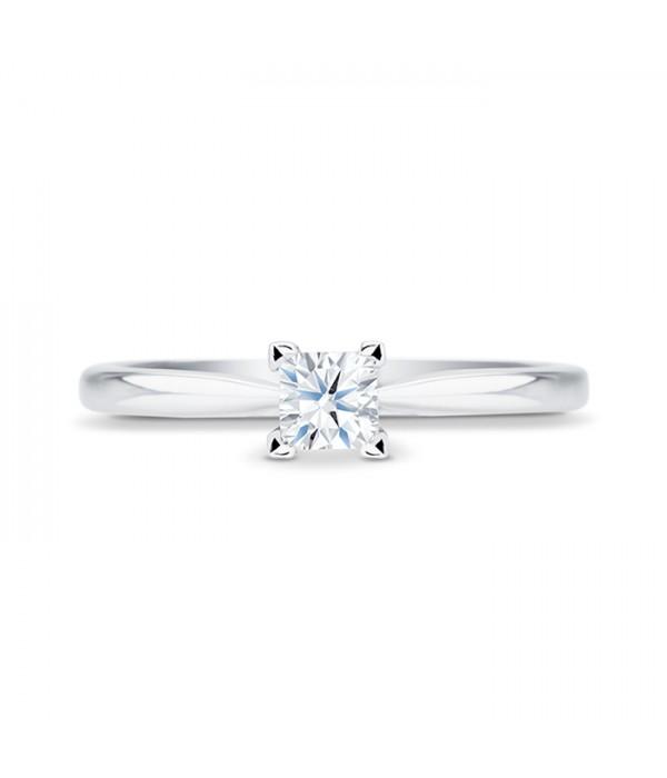 Anillo de Platino 950 Diamante talla Princesa