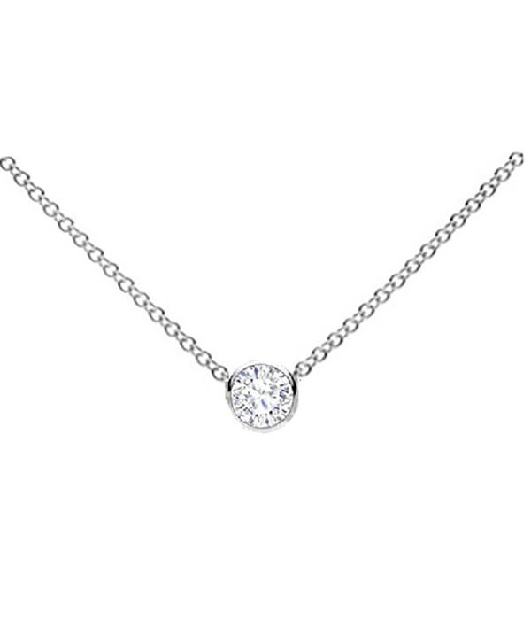 Colgante en Chatón de Diamante  - CR 19 OB