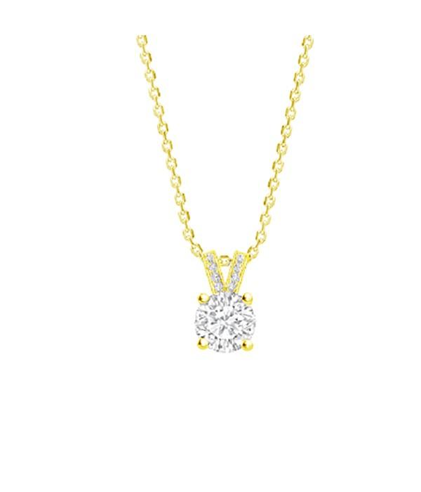 "Colgante Oro 18K Diamantes ""Eiffel 2"" - CR 16 OA"