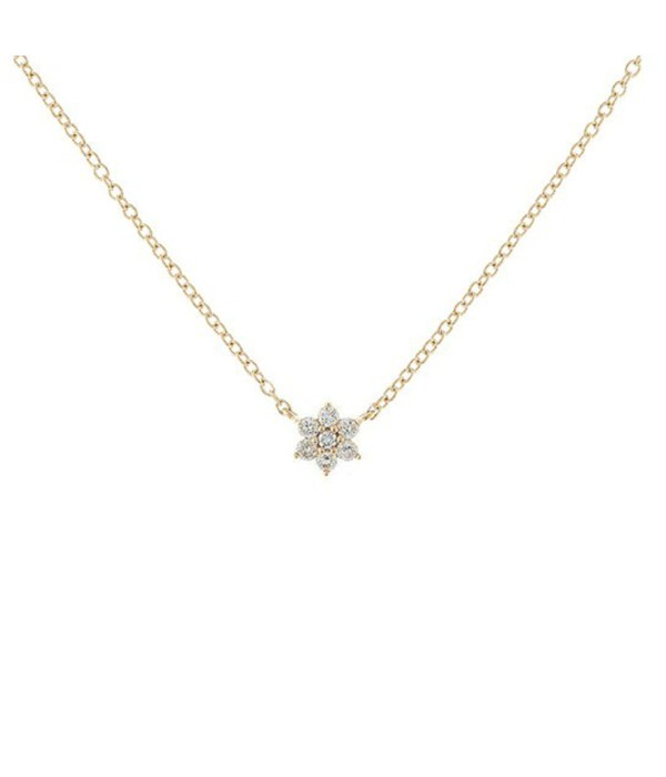 "Colgante ""Estrella"" de diamantes oro rosa 18K"