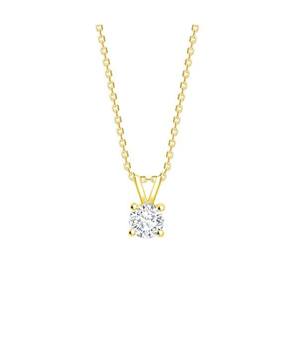 "Colgante Oro ""Victoire""  garras Diamante talla Brillante - CR 11 OA"