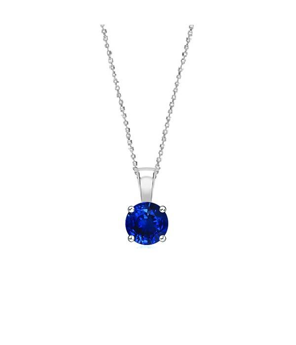 """Collar """" Blue Midori"""" Zafiro Azul en Oro Blanco 18k - CR 1 ZAF"""