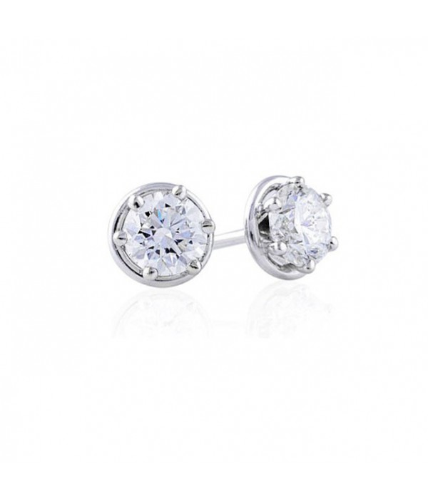 Pendientes Diamantes Ilusión Oro Blanco PI 61